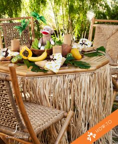 how to create a tropical island-themed table for a kids' party #diy