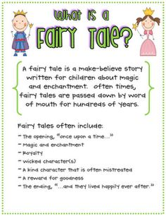 Lots of ideas for a Fairy Tales Unit