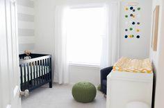 Gray + Navy nursery
