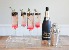 Food & Drink: 5 Beautiful Champagne Cocktails for #ChampagneDay! - Twine Living