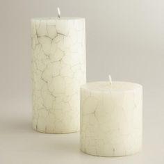 Crackle Pillar Candles