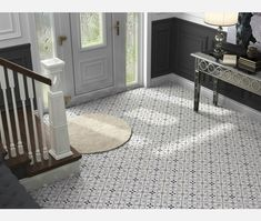 Brighton Grey Pattern Porcelain Floor Tile - Tiles from Tile Mountain