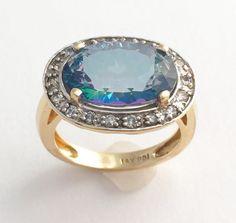 7k Neptune Topaz Diamond Ring