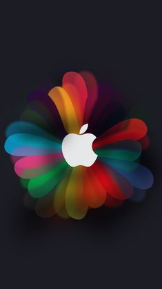 iDC Apple Flowers. Tap to see Collection of Apple Logo iPhone wallpapers. icons - @mobile9