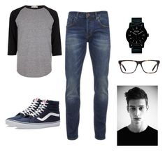 """""""Jay"""" by aabsmiles on Polyvore featuring River Island, Scotch & Soda, Vans, Ace, Nixon, men's fashion and menswear"""