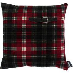 Jean Paul Gaultier Tartan Twiggy Cushion - Nectar ($68) ❤ liked on Polyvore featuring home, home decor, throw pillows, pillows, plaid, black, plaid throw pillows, black throw pillows, black home decor and plaid home decor