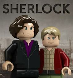 Sherlock Holmes and Dr. John Watson might be Legos one day. Repin this picture if you think that would be a great idea! #legos #sherlock