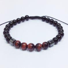pulseiras masculinas onix olho de tigre mens bracelets stones tiger red onyx