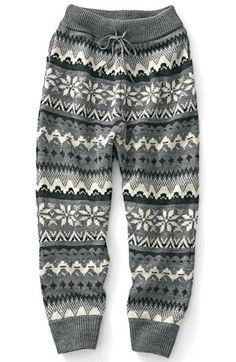 Nordic knit pants pattern