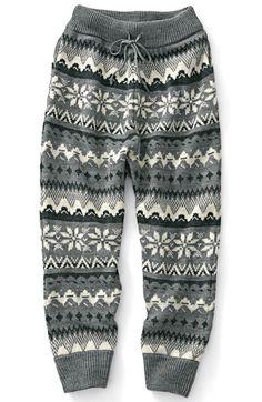 Nordic knit pants pattern