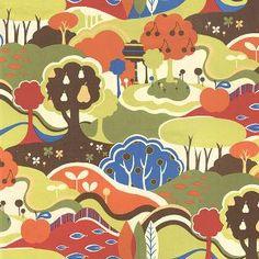 Avant Garden by Momo for Moda. Scenic Fantasia, Clover  16120 14