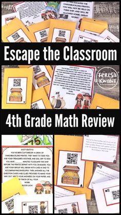 Breakout, escape the classroom! This is an end of the year math review game. It is perfect for test prep. Your fourth grade class will love reviewing math skills, while trying to escape the pirates!