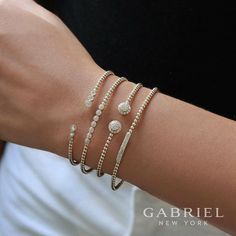 💍It's a beautiful thing when luxury and comfort come together.  Style# BG4120, BG4116, BG4119, BG4123  🛍Shop the Bujukan collection from @gabrielandco Exclusively at Atlanta West Jewelry ! atlantawestjewelry.com  #GabrielCoRetailer #GabrielNY #GabrielandCo #Bracelets #Gold #Sparkle #MustHaves #JewelryTrends #March #Layering #Diamonds #SpringBreak