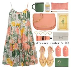 """""""dress under $100"""" by jesuisunlapin ❤ liked on Polyvore featuring Dorothy Perkins, MICHAEL Michael Kors, Hermès, Pine Cone Hill, Lanvin, Aesop, Ana Khouri, Eve Lom, tropical and crossbodybags"""