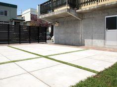 雑草のお庭をリフォーム!コンクリート平板のフリースペース 札幌市手稲区I様邸1