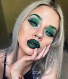 "22.9k Likes, 276 Comments - Lauren Rohrer  (@laurenrohrer) on Instagram: ""MRs Grinch  Obsessed with Serpentina from the Slither Velvetine Trio by @limecrimemakeup!  . . .…""    #Regram via @laurenrohrer"