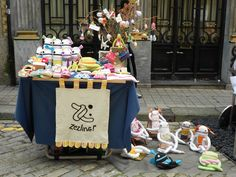Zezling! stand at a summer craft fair in Portugal.