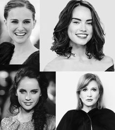 Women of Star Wars – Natalie Portman, Daisy Ridley, Felicity Jones and Carrie Fisher