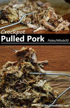 Paleo & Whole30-Friendly Crockpot Pulled Pork | DoYouEvenPaleo.net