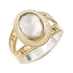 Anna Beck Oval Stone Split Ring (€250) ❤ liked on Polyvore featuring jewelry, rings, anna beck jewelry, band rings, handcrafted jewelry, 18 karat gold jewelry and hand crafted jewelry