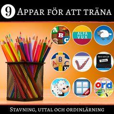 Nio appar för att träna stavning, uttal och ordinlärning
