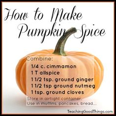 How to Make Pumpkin Spice....   Anyone else see what's wrong with this?