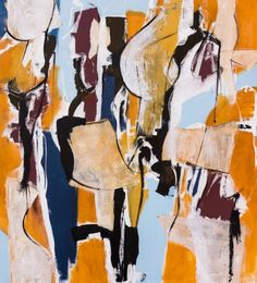 """Saatchi Art Artist Francesco D'Adamo's expressionist painting """"Of a sunny day"""" 
