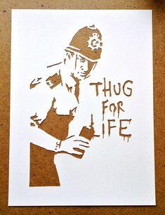 Lot de pochoirs de Banksy de 5 Choisissez votre propre