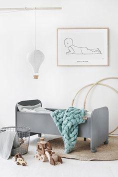 Pefecto! Little grey bed for the kids room | Details | Interior Design | via @trendenser.se