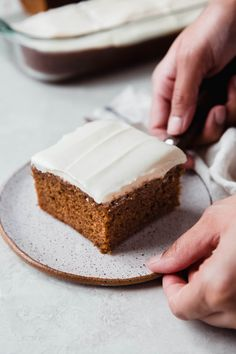 Moist Spice Cake with Cream Cheese Frosting Recipe | Little Spice Jar