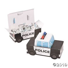Party Supplies Patrol Car Police Party Favor Treat Boxes 12 Ct Perfect New Police Retirement Party, Police Wedding, Retirement Party Favors, Retirement Ideas, Cop Party, Police Baby, Police Gifts, Baby Shower, Party Treats