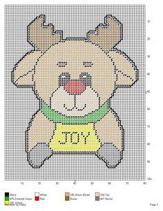 REINDEER *JOY* by KATHY -- WALL HANGING