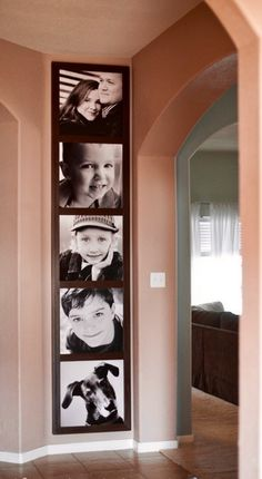 Another way to display pictures down my hall way
