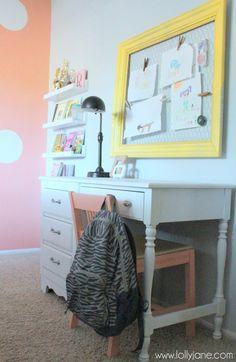 Little girls bedroom makeover under $200 :: Hometalk *frames & art display
