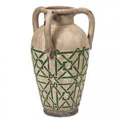 Kavala Handpainted Vase - Terra Cotta Vases - Pottery Vases - Decorative Vases | HomeDecorators.com