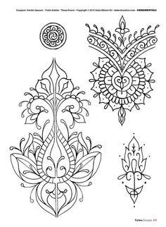 Tattoo flash book №5 - mandalas & ornamental | 66 photos | VK