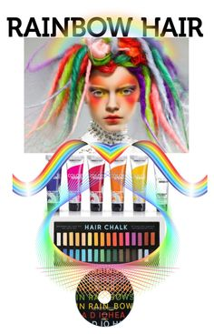 """""""RAINBOW HAIR"""" by giovanina-001 ❤ liked on Polyvore featuring beauty"""