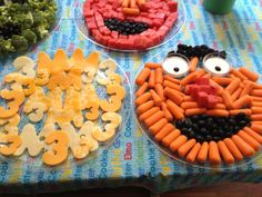 sesame street fruit and vegetable trays - Google Search