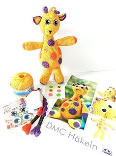 Spieluhr Giraffe Häkelset mit Anleitung und Zubehör Hobby Welt kreativ http://www.amazon.de/dp/B00L6HITE0/ref=cm_sw_r_pi_dp_seyavb04QKR0N