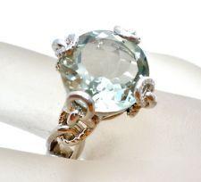 Atelier Anthony Nak Sterling Ring Silver Size 7 Green Quartz 6 Ct Gemstone