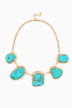 ShopSosie Style : Turquoise Orbit Necklace