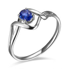 Classic Design!!! GVBORI 18K White Gold&Sapphire Gemstone Wedding Ring For Women Fine Jewelry Valentine $383.17 - 435.17