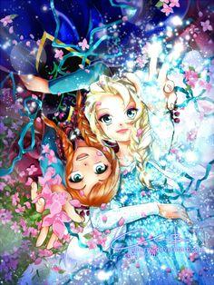 "Sprinkles by ruiberry.deviantart.com on @DeviantArt - Anna and Elsa from ""Frozen"""