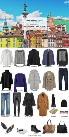 What to Pack for Warsaw Poland Packing Light List #travellight #traveltips #packinglight #packinglist #travel
