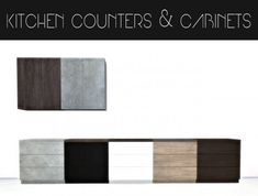 Hvikis: Kitchen counters & cabinets • Sims 4 Downloads