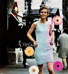 Dress Knitting Pattern Vintage 1960s Groovy Dress KNITTING Pattern Vintage Beso Instant Download PDF Pattern by VintageBeso on Etsy