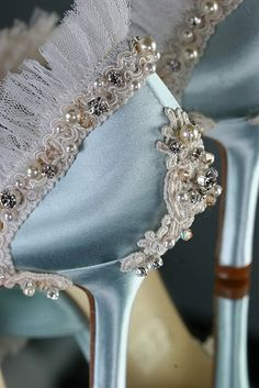 Jeweled Shoes Hand Embellished Encrusted With Crystals by Parisxox, $1080.00