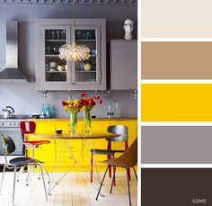 Exterior paint colours for house yellow kitchen cabinets 45 ideas Yellow Kitchen Cabinets, Kitchen Cabinet Colors, Kitchen Colors, Exterior Paint Colors For House, Paint Colors For Home, Paint Colours, Neon Colors, Bold Colors, Kitchen Interior