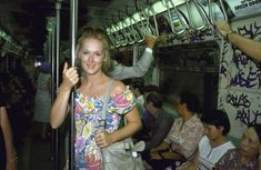 Meryl Streep riding the New York City subway (1981)