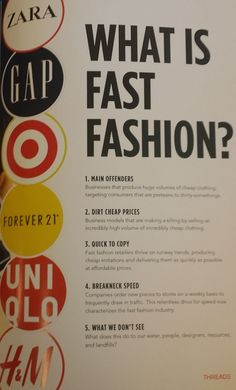 How to define & recognize Fast vs Slow Fashion. Make the choice - it affects us . - Women's style: Patterns of sustainability Ethical Fashion Brands, Ethical Clothing, Fast Fashion Brands, Sustainable Clothing, Sustainable Fashion, Sustainable Style, Sustainable Living, Primark, Fashion Business